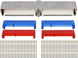 ICT Billet LS Gen 3 ECM Engine Computer Connector Kit Blue Red P01 PCM 0411 LS1 LM7 LQ4 LR4 Compatible with 1997 and newer GM LS Gen 3 series engines with two 80-terminal Blue-Red connector WPECM30BR