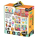 Headu- Montessori My Little House Juego Infantil Educativo Desarrollo Conocimiento del Entorno, Multicolor (IT20836) , color, modelo surtido