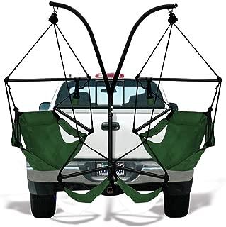 Hammaka Hammocks Trailer Hitch Stand with Aluminum Dowel Hammock Chairs Combo Hunter Green