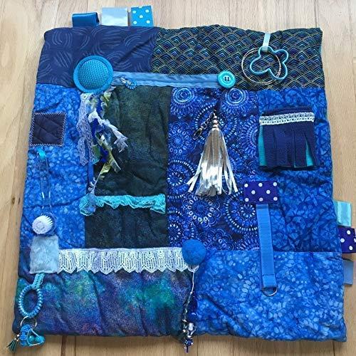 Alzheimer's Fidget Blanket 23'x23' Fidget Quilt | Alzheimer's Blanket | BEAUTIFUL BLUE DREAMER | by...
