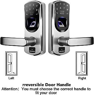 Ardwolf A60 Fingerprint Door Lock for Garage Home (Irreversible Handle, Left and Right Bundle)
