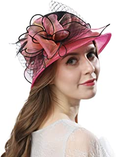 Women's Cloche Bowler Hats KDC1721 for Kentucky Derby Day, Church, Wedding, Tea Party, Ascots