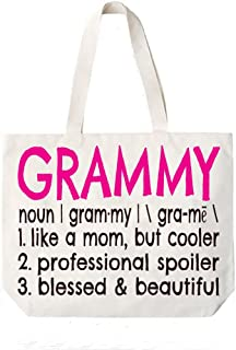 Grammy Definition Canvas Tote Bag Grandma Gift Idea Book Bag
