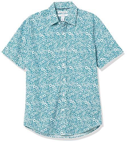 Amazon Essentials – Camisa de popelín de manga corta de corte entallado para hombre