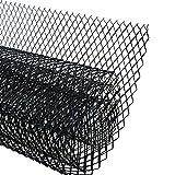 AUTOT 40 x 13 inch Car Grill Mesh Sheet, Black Painted Aluminum Alloy Grille Mesh Roll, 8 x 16 mm Rhombic-Shape Grids