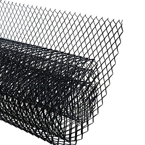 "AUTOT 40""x13"" Car Grill Mesh 16x8mm Aluminum Alloy Grille Mesh Sheet Rhombic Type Black"
