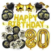 風船・バルーン Amawillお誕生日おめでとうございます18 20 21 30 40 50 60 80 80歳の誕生日の装飾甘い16パーティのデジタル番号 装飾 (Color : No10)