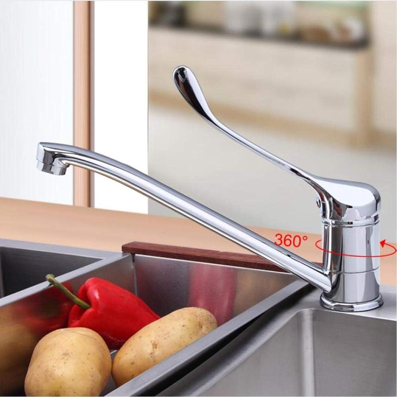 Küchenarmatur Kalt- und Warmwassermischer Verchromt Betrieb Medizinischer Wasserhahn Super Long Single Handle