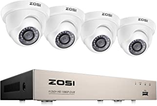 ZOSI 8CH HD-TVI 1080N Video CCTV DVR Security System w/ 4pcs 1.0 Megapixel 720P Indoor Outdoor Dome Cameras 65ft(20m) Nigh...