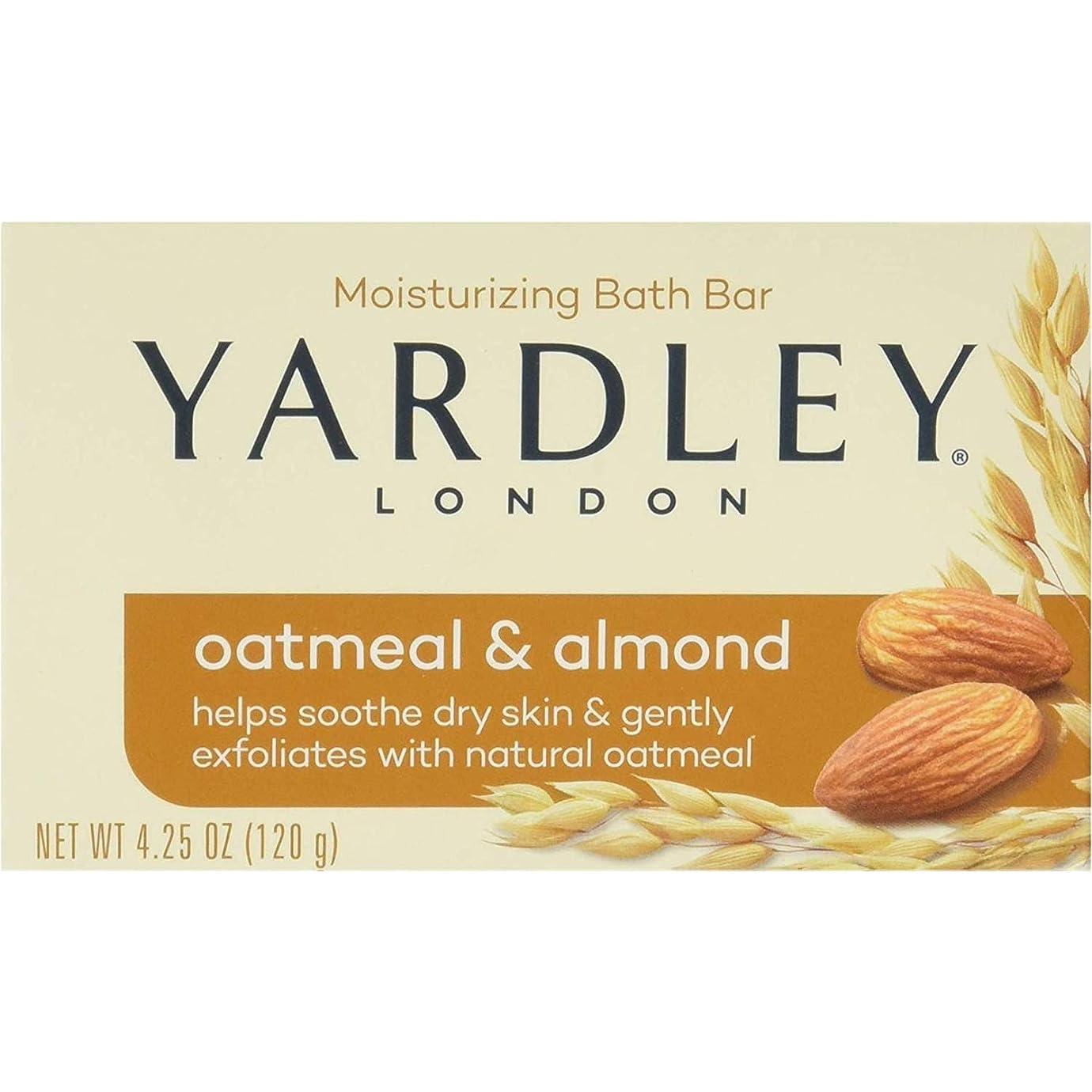 震える酸化するの間でYardley オートミールとアーモンド石鹸、4.25オズ。 20本のバー