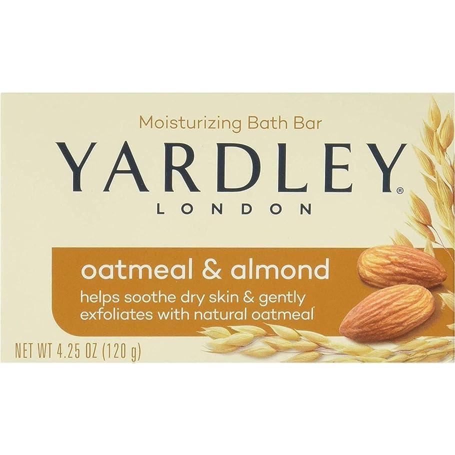 挨拶するオーストラリア人染料Yardley オートミールとアーモンド石鹸、4.25オズ。 20本のバー