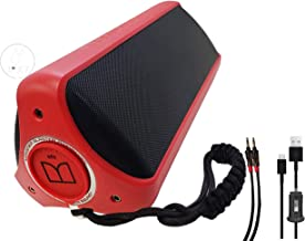 Monster Superstar Dynamite High Performance Waterproof - Portable Bluetooth NFC Pair Wireless with Monster AUX - Car Adapter (Retail Packing) Red