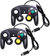 MorTime Gamecube Controller,2 Pack Classic Wired Controllers Gamepad for Wii Gamecube,Compatible with Wii Nintendo Gamecube (Black)