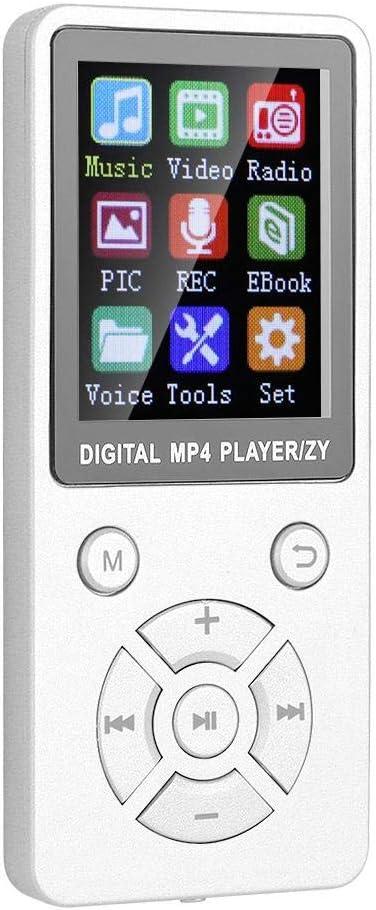 erweiterbare 32-GB-TF-Karte tragbarer 1,8-Zoll-Bluetooth-Digital-Musik-Player Blau Stereo-Lautsprecher mit Video-HiFi-Sound Denash MP4-MP3-Player