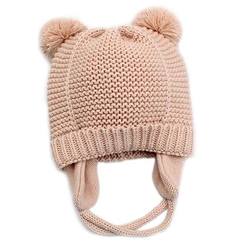 22217e4c85118c Baby Beanie Earflaps Hat - Infant Toddler Girls Boys Soft Warm Knit Hat  Kids Winter Hat