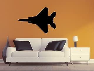 Maxx Graphixx Military Plane Wall Decal - F15 Eagle Wall Silhouette Sticker - Airplane 5 (27h x 39w)