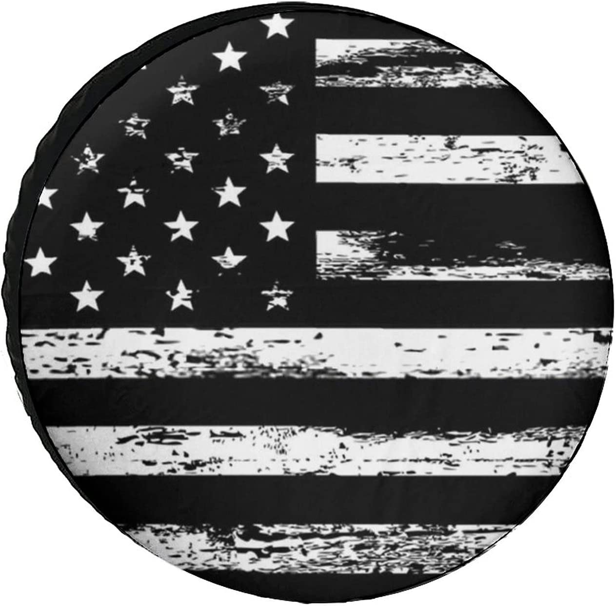 Spare Award-winning store Ranking TOP20 Tire Cover Black White PVC Whe Leather American Flag