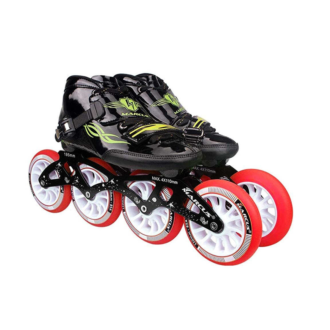 パーセント療法穿孔するインラインスケート ローラースケート4輪90MM-110MM車輪調整可能なインラインスケート、ストレートスケートシューズ(4色) キッズ ローラースケート (Color : Red, Size : EU 38/US 6/UK 5/JP 24cm)