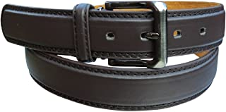 """Men's Stylish Plain Leather Trouser Belt: Made by Forest Belt Co : Black : Brown : Up To 56"""" Waist"""