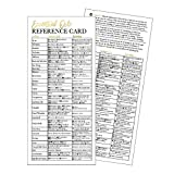 25 4x9 Essential Oil Reference Cards, For Independent Distributor Business Marketing Supplies, Educational Guide Sheet Charts Beginners, Book Mark, Guidebook Handbook Quick Mini Manual