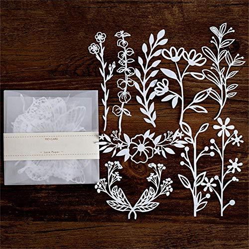 10st uitgehold kant papier vlinder bloem- venster kant retro decoratieve sticker diy scrapbooking label dagboek album, 7, Verenigde Staten
