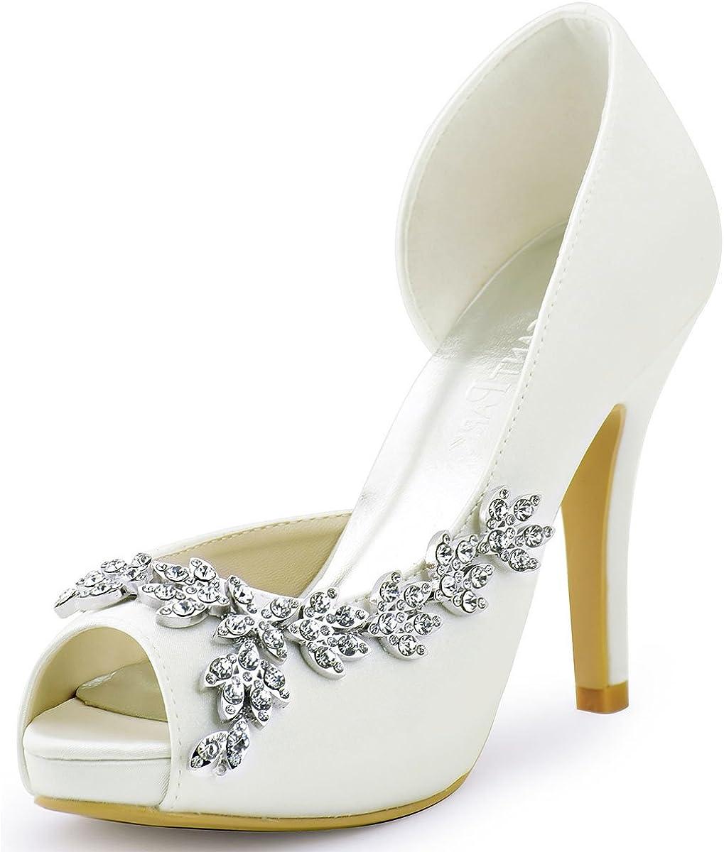 ElegantPark Wedding Shoes for Max 62% OFF Bride Bridal Heel Platform Sh High Max 48% OFF
