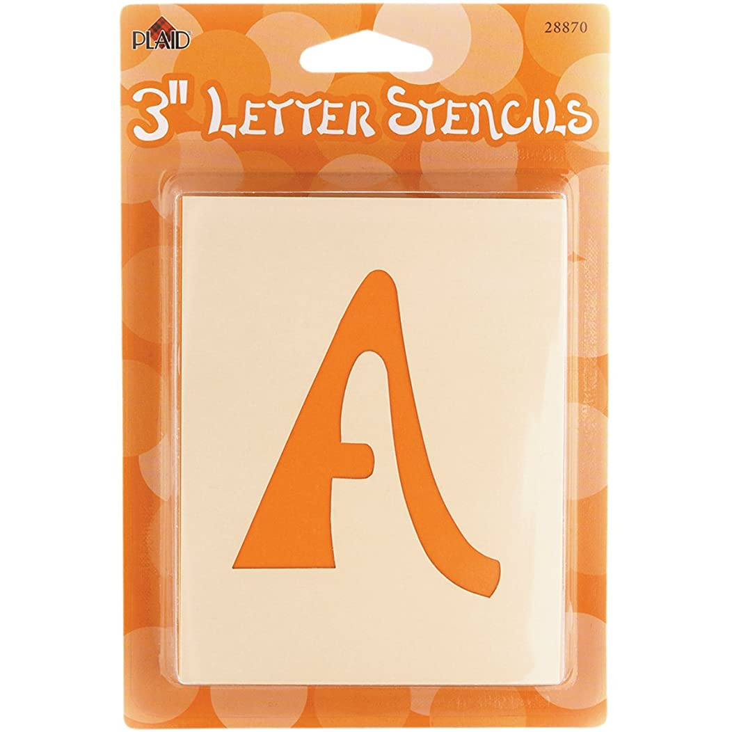 Plaid Letter Stencil Value Pack (3-Inch), 28870 Swashbuckle