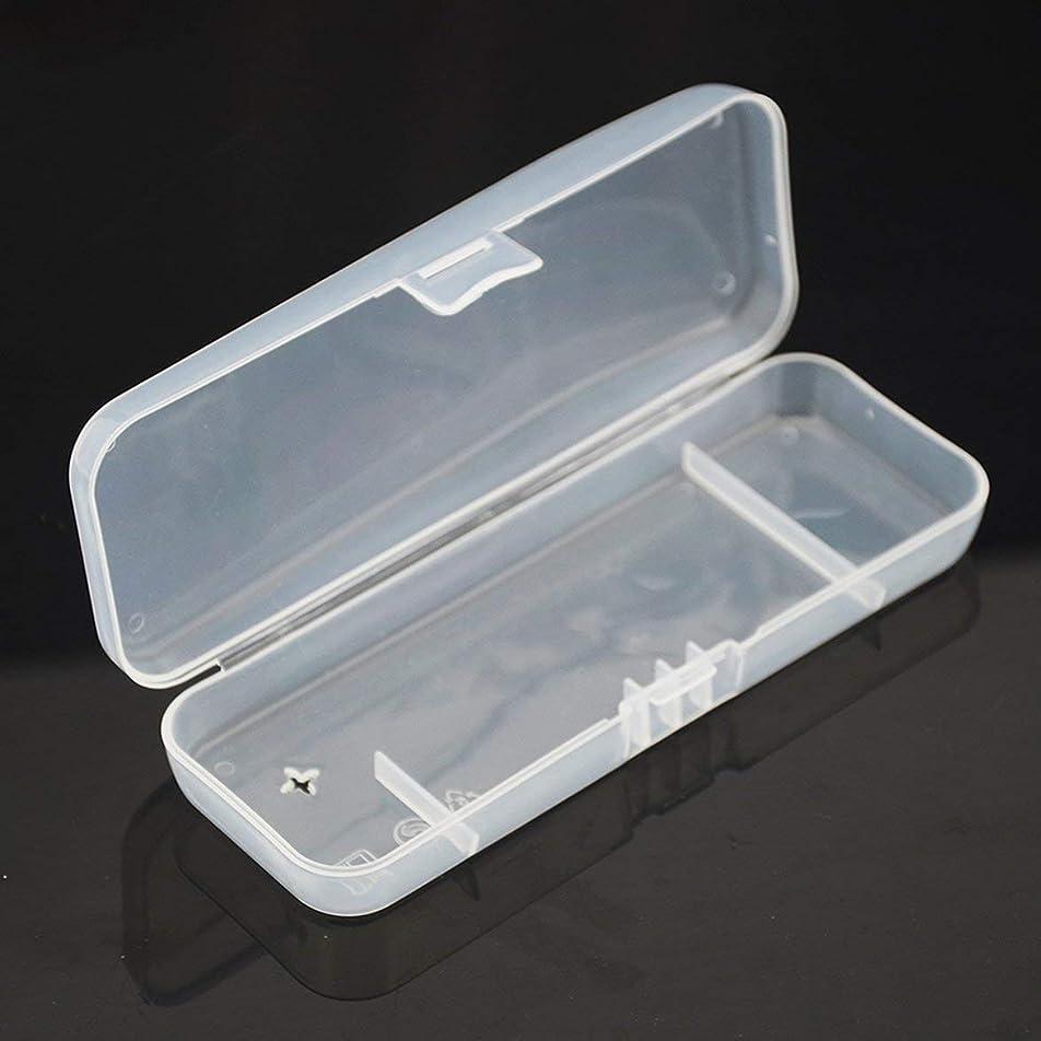 階層離れた親密なIntercoreyポータブル旅行ABSカバー手動かみそり保護透明ボックスホルダーカバー旅行用男性シェービングケース