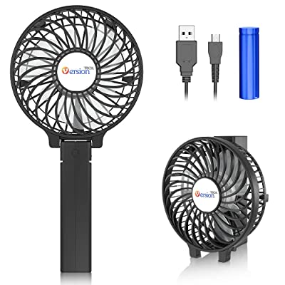 VersionTECH. Mini Handheld Fan, with USB Rechargeable Battery