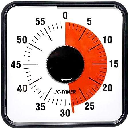 Living Hall タイマー 勉強 スクールタイマー キッチンタイマー 子供 学習用 アラーム 幼児教育 知育 時間管理 19cm 60分 マグネット