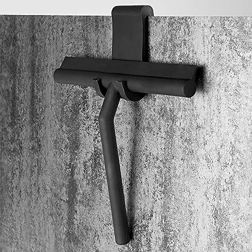 PopHMN - Escobilla de ducha para limpiaparabrisas, de silicona, con gancho, color negro