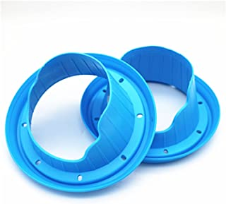 Greatly Store 2pcs Car Audio 6.5 Inch Speaker Waterproof Cover Sound Insulation Stop Shock Silica Gel Seal Mount Adapter R...