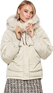 Zandiceno Women's Winter Warm Down Coats Puffer Parkas Hooded Jackets