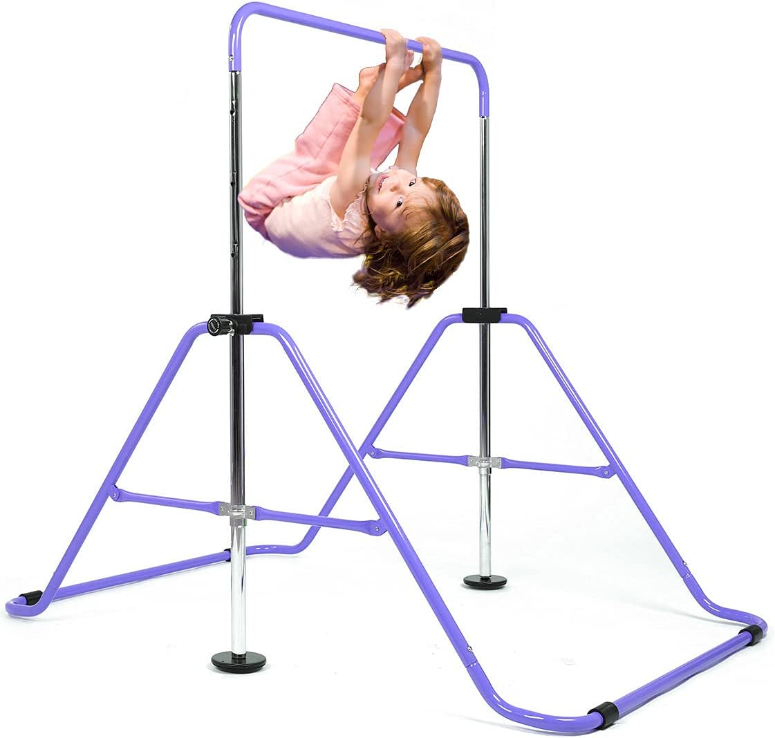 Buy DOBESTS Gymnastics Bar Kids Expandable Gymnastic Bars Equipment for Home Adjustable Height Folding Kip Junior Training Bar 3-7 Years Old Online in Indonesia. B08F4ZLX56