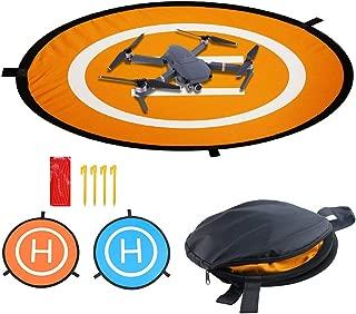 Drones Landing Pad, Universal Waterproof D 75cm/30'' Portable Foldable Landing Pads for RC Drones Helicopter, PVB Drones, Drones Phantom 2/3/4/, DJI Spark DJI Mavic 2/Pro, 3DR Solo (Landing pad)