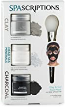 SPAScriptions Clay, Dead Sea Minerals & Charcoal Gel Face Mask, 1.7 Oz Each