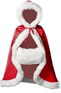 Flower Girl Cape Winter Wedding Cloak for Infant Junior Bridesmaid Hooded Reversible