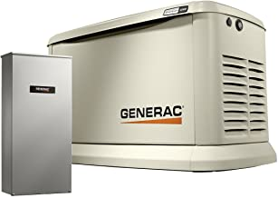 Generac 7043 Home Standby Generator 22kW/19.5kW Air Cooled with Whole House 200 Amp Transfer Switch, Aluminum
