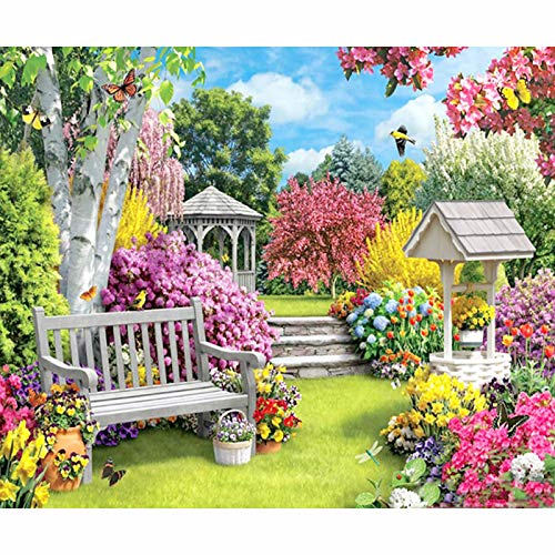 5D Diamond Drawing Beautiful Scenery Cross Full Stitch Diamond by Number kit Crystal Crafts Adult Adult Digital Sings Wall Art 16'x20' 'Holiday Gifts'