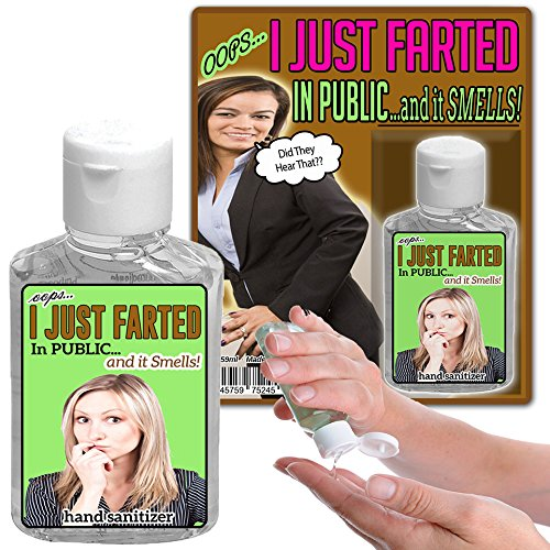 I Just Farted In Public and It Smells Hand Sanitizer Gel 2 oz Funny Stocking Stuffers for Guys Weird...