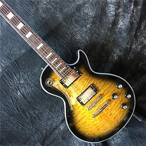 chushi Guitarra Eléctrica Cosido Top De Arce Superior De Palisandro Tablero De...