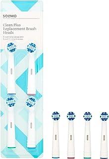 Marca Amazon -Solimo Cabezales de cepillo de dientes Clean Plus, 2 packs de 4 cabezales