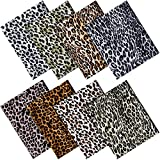 8 Piezas Telas de Algodón de Rayón con Estampado de Leopardo de 18,8 x 16,5 Pulgadas Patchwork Acolchado de Coser Paquetes de Tela Estampada Artesnal Hechos a Mano para DIY