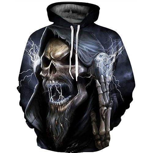 aa5ac5704e3c GLUDEAR Unisex Realistic 3D Digital Print Pullover Hoodie Hooded Sweatshirt