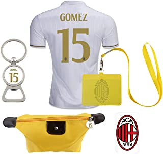 #15 Gomez (6 in 1 Combo) A.C. Milan Away Match Adult Soccer Jersey 2016-17