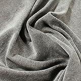 Stoff am Stück Stoff Baumwolle Polyester Nicki hellgrau