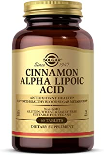 Solgar Cinnamon Alpha Lipoic Acid, 60 Tablets - Antioxidant Health - Supports Healthy Blood Sugar Metabolism - Non-GMO, Ve...
