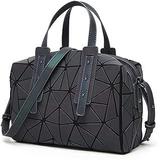 Geometric Luminous Purses Handbags for Women, Ladies Tote Satchel Shoulder Bags