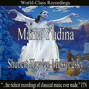 Maria Yudina - Shubert, Haydn, Mussorgsky
