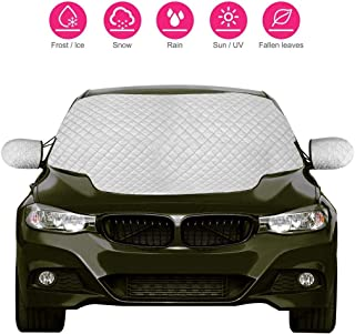Car Windshield Sun Shade Outdoor Snow Cover with 2 Mirror Covers for Car SUVs Trucks and Vans Foldable Sunshade Auto Front Window Protector Sun Shade Visor Heat Shield Cover Keeps Vehicle Cool (Large)